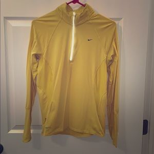 Yellow/gold livestrong Nike dry fit quarter zip